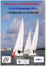 Sélective Voile Habitable U – 17 & 18 nov à Cherbourg